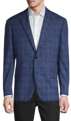 Robert Graham Check Wool Silk Blazer