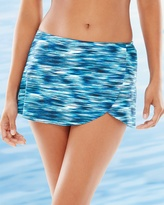 Soma Intimates Renewal Texture Raw Edge Wrap Skirt Swim Bottom