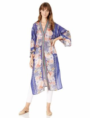 Johnny Was Women's Printed Full Length Kimono