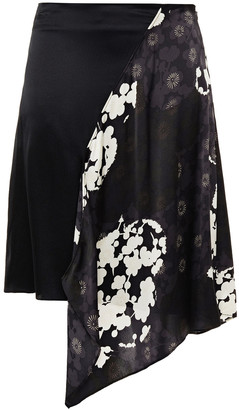 McQ Draped Printed And Silk-satin Mini Skirt