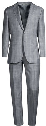 Canali Glen Plaid Wool Suit