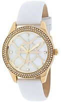 Nicole Miller nicole by Womens Mother-of-Pearl Leather-Strap Watch