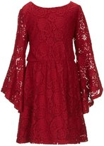 My Michelle Big Girls 7-16 Bell-Sleeve Lace A-Line Dress