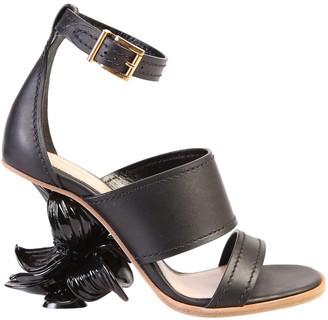 Alexander McQueen No.13 Flower Wedge Sandals