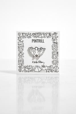 Pintrill X Keith Haring Angel Pin Badge - White ALL at Urban Outfitters