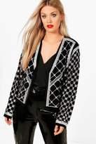 boohoo Plus Lucinda Beaded Velvet Trophy Jacket