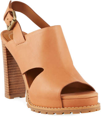 See by Chloe Brooke Slingback Platform Leather Sandals