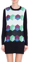 Tibi Geo Intarsia Sweater Dress