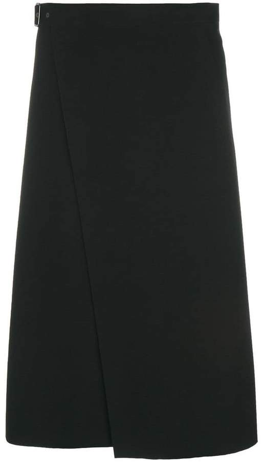 Theory flared midi pencil skirt
