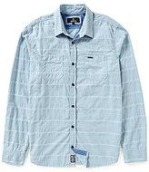 Buffalo David Bitton Long-Sleeve Horizontal-Textured-Stripe Woven Shirt