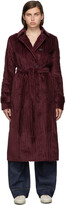 Thumbnail for your product : VVB Burgundy Velvet Belt Cord Coat