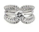 JCPenney FINE JEWELRY DiamonArt Cubic Zirconia Sterling Silver Crescent Ring Guard