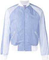 Comme des Garcons striped bomber jacket - men - Cotton/Polyester - XL