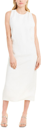 Helmut Lang Pleated Silk-Blend Midi Dress