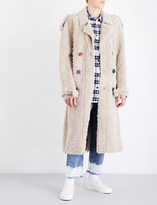 Off-White ART DAD x Shearling trench coat