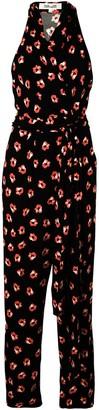Diane von Furstenberg floral print wrap jumpsuit