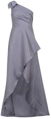 Adrianna Papell Mikado Long Maxi Dress