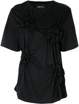 Simone Rocha ruched T-shirt - women - Cotton - XS