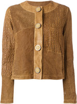 Drome perforated trim jacket - women - Lamb Skin/Acetate/Cupro - S
