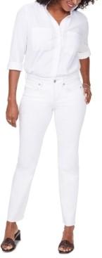 NYDJ Marilyn Raw-Hem Tummy-Control Jeans