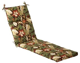 Winston Porter Tropical Indoor/Outdoor Chaise Lounge Cushion