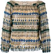 Alice + Olivia Alice+Olivia - embellished blouse - women - Polyester/Spandex/Elastane/Nylon - XS