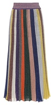 Missoni Metallic wool-blend skirt