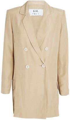 SIR the Label Leon Double-Breasted Blazer