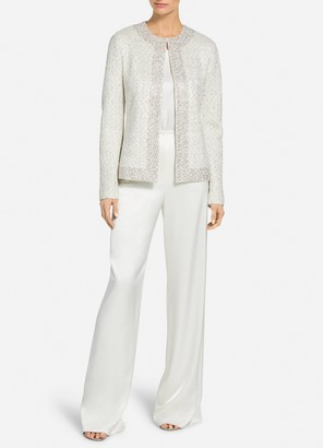 St. John Structured Caged Inlay Knit Sequin Jacket