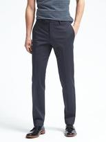 Banana Republic Slim Stretch Cotton Solid Suit Trouser