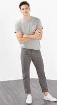 Esprit OUTLET texture stretch cotton five-pocket trousers