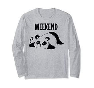 Weekend Lazy Panda Long Sleeve T-Shirt