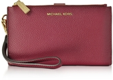 Michael Kors Adele Mulberry Pebble Leather Smartphone Wristlet