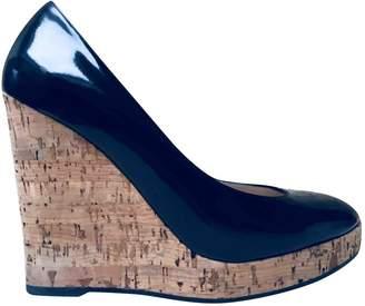 Saint Laurent Navy Patent leather Espadrilles