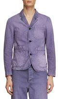 Burberry Slim-Fit Striped Workwear Jacket