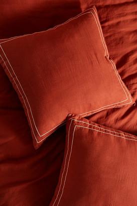 Anthropologie Moderna Linen Euro Sham By in Orange Size EURO SHAM