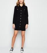 New Look Long Sleeve Denim Bodycon Dress