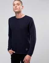 Minimum Sweater With Textured Knit In Navy