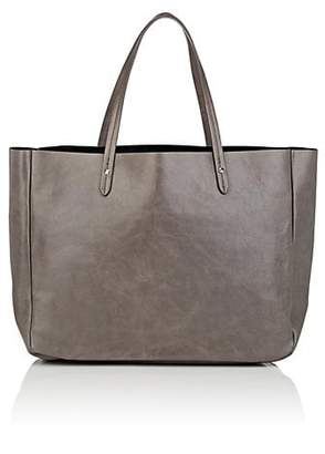 Barneys New York Women's Leather Shopper Tote - Gray