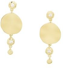 Gorjana Chloe Shimmer 18K Gold-Plated Pave Disc Drop Earrings