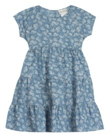 Rare Editions Little Girls Printed Chambray Dress