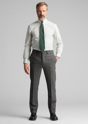 Ralph Lauren Slim Glen Plaid Wool Trouser