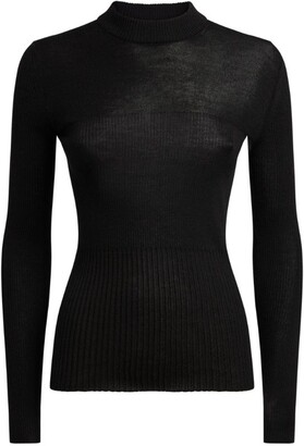 7 For All Mankind Cashmere-Silk High-Neck Sweater