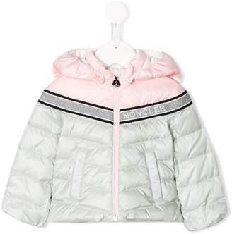 Moncler bi-colour quilted down coat