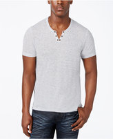 INC International Concepts Men's Heathered Split-Neck T-Shirt, Only at Macy's