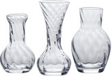 Mikasa Celebrations by Set of 3 Assorted Glass Bud Vases