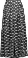 Oscar de la Renta Polka-dot fil coupé organza maxi skirt