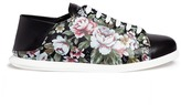 Alexander McQueen Floral print leather step-in sneakers