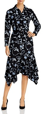Karl Lagerfeld Paris Printed Bandana Hem Maxi Dress