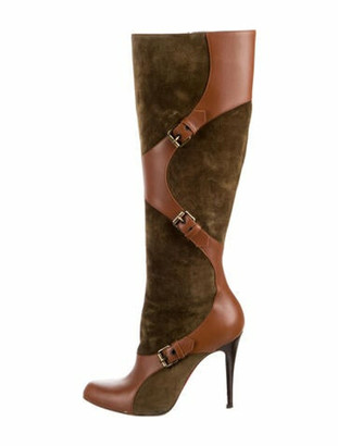 Christian Louboutin Suede Boots Brown